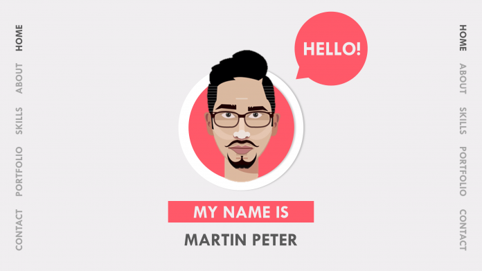 Free Animated PowerPoint Resume Template