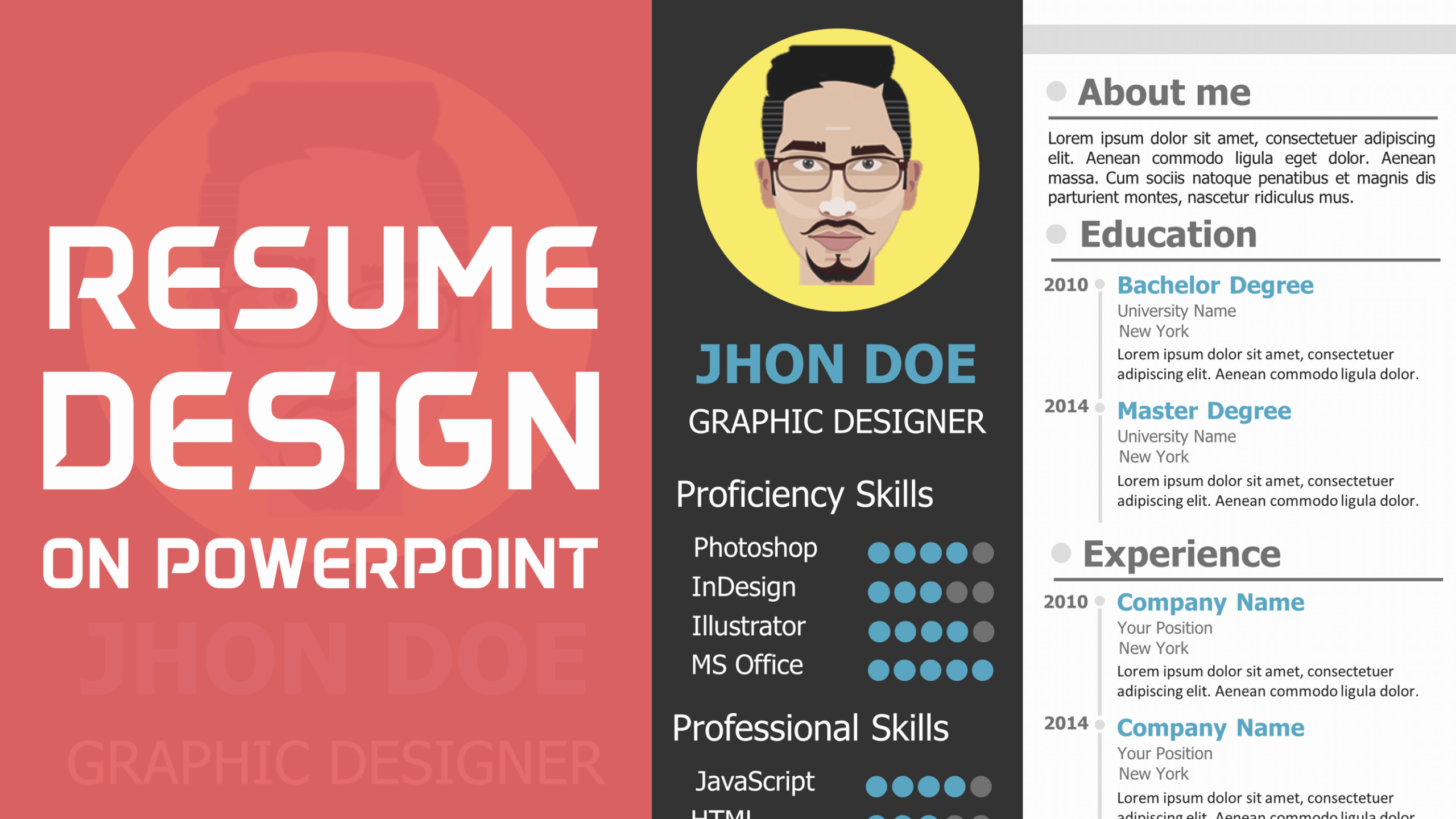 download free creative resume template