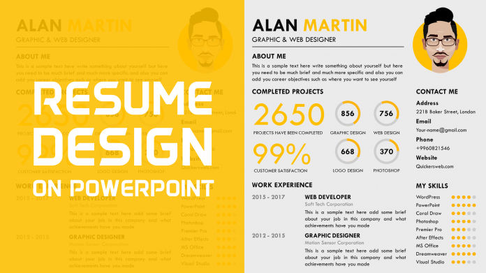 Free Creative Resume Template by PowerPoint School
