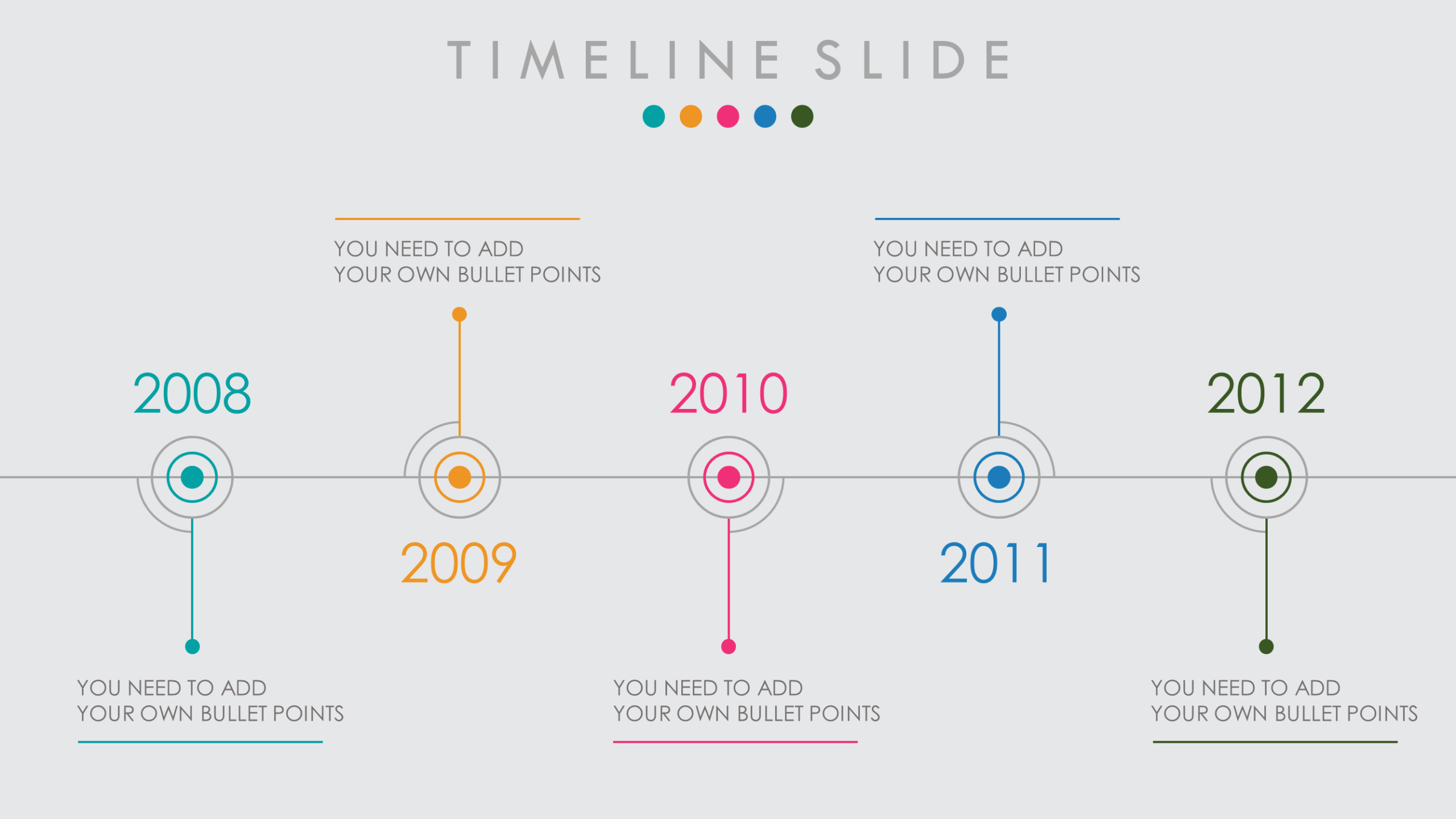 animated powerpoint timeline template