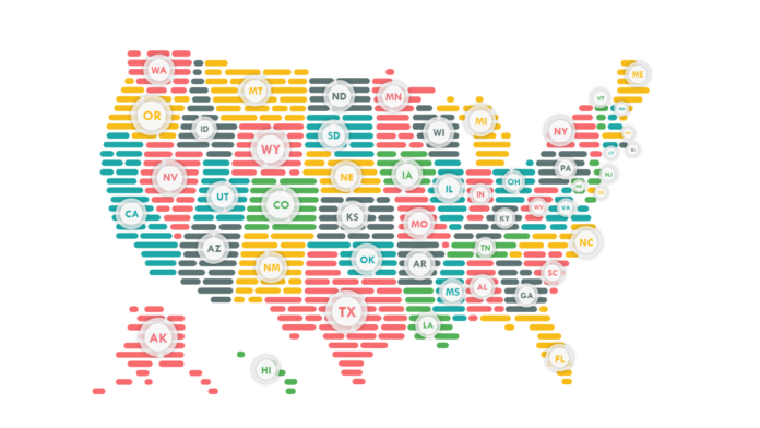USA Map Template PowerPoint